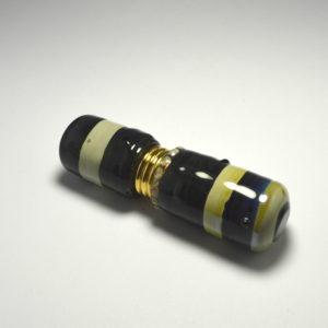 Flacon à Parfum de sac en verre noir caramel, pièce unique