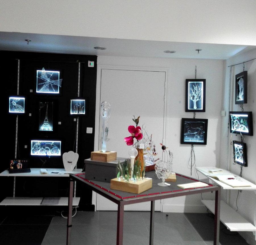 Tableaux Lumineux en exposition